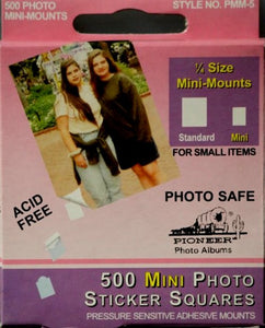 Pioneer Photo Permanent Mini Adhesive Mounting Photo Squares - SCRAPBOOKFARE