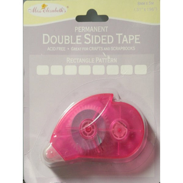 Miss Elizabeth's Double-Sided Permanent Adhesive Rectangle Pattern Tape Runner or Roller - SCRAPBOOKFARE