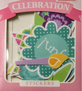 Colorbok Seeds Of Celebration Die-Cut Stickers - SCRAPBOOKFARE