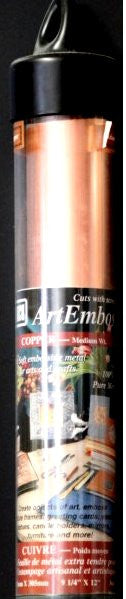 Amaco American Art Clay Co. Inc. Art Emboss Medium Wt. Copper Sheets - SCRAPBOOKFARE