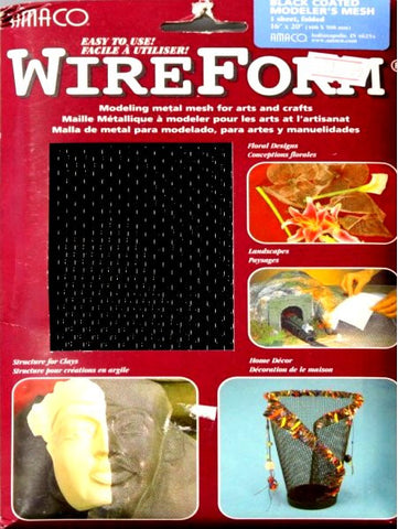 Amaco American Art Clay Co. Inc. WireForm Black Coated Modeler's Mesh - SCRAPBOOKFARE