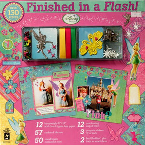 Hot Off The Press Paper Pizazz 12 x 12 Finished In A Flash Disney Tinkerbell Scrapbook Pages Kit - SCRAPBOOKFARE