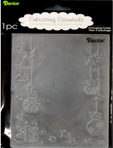 Darice Ornament Star Snowflake Embossing Essentials Folder - SCRAPBOOKFARE