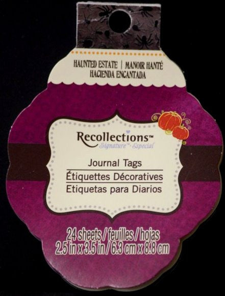 Recollections Signature Special Haunted Estate Journal Tags - SCRAPBOOKFARE