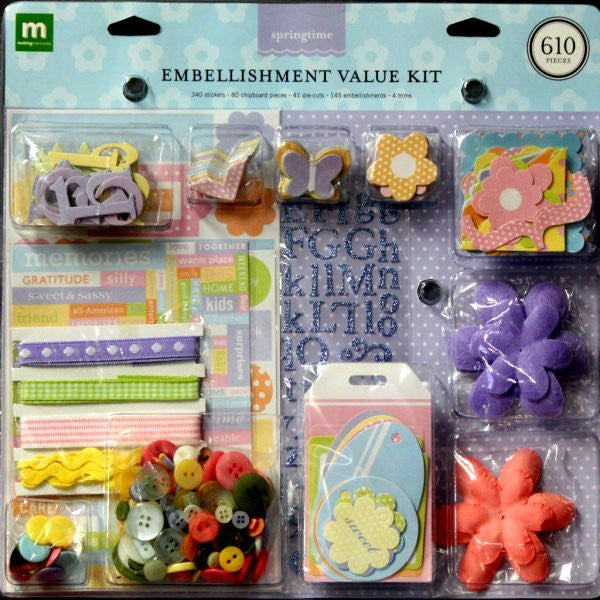 Making Memories Springtime Embellishment Value Kit - SCRAPBOOKFARE