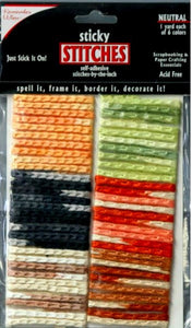 Colorbok Remember When Neutral Sticky Stitches - SCRAPBOOKFARE