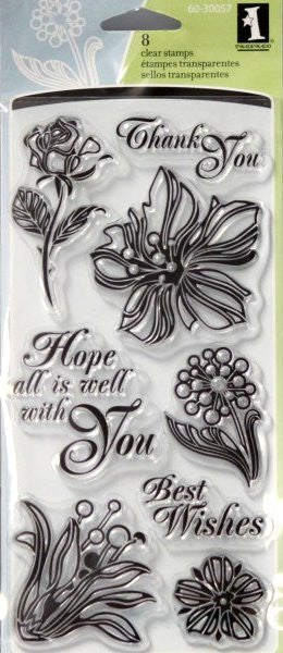 Inkadinkado Floral Expressions Clear Stamps - SCRAPBOOKFARE