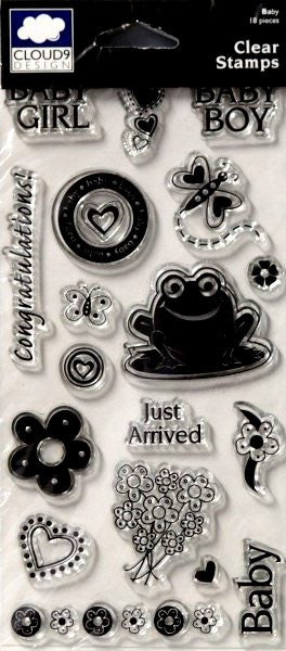 Cloud 9 Design Baby Clear Stamps - SCRAPBOOKFARE