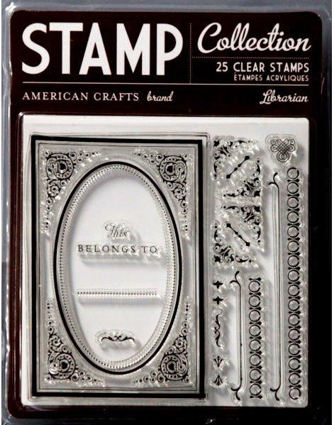 American Crafts Librarian Clear Stamps - SCRAPBOOKFARE