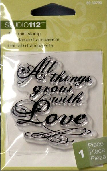 K & Company Studio 112 All Things Grow With Love Mini Clear Stamp - SCRAPBOOKFARE