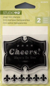 K & Company Studio 112 Cheers Here's To You Mini Clear Stamps - SCRAPBOOKFARE