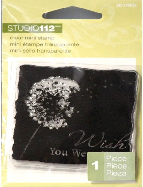 K & Company Studio 112 Wish You Were Here Mini Clear Stamp - SCRAPBOOKFARE