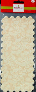 Holiday Inspirations Retangular Scalloped Yellow Floral Tin Liners Paper Doilies - SCRAPBOOKFARE