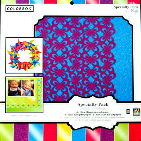 Colorbok 12 x 12 Bright Specialty Scrapbook Paper Pad - SCRAPBOOKFARE
