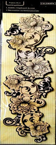 Colorbok English Moss Layered Chipboard Border Embellishment - SCRAPBOOKFARE