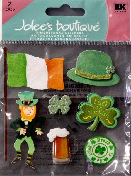 Jolee's Boutique Proud To Be Irish Dimensional Stickers - SCRAPBOOKFARE