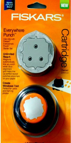 Fiskars Everywhere Framed Cartridge Punch - SCRAPBOOKFARE