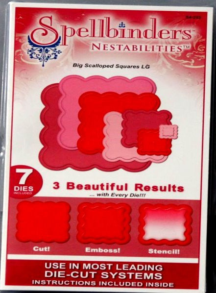 Spellbinders Nestabilities Big Scalloped Squares LG Dies