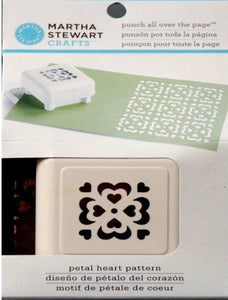 Martha Stewart All Over The Page Petal Heart Pattern Paper Punch - SCRAPBOOKFARE