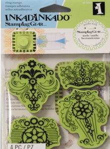 Inkadinkado Vintage Parts Cling Stamp Set - SCRAPBOOKFARE