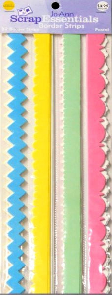 JoAnn Essentials Pastel Die-cut Border Set - SCRAPBOOKFARE