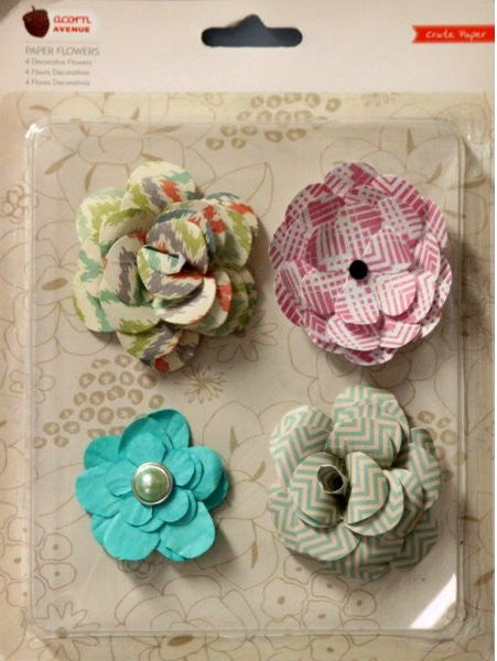 Crate Paper Acorn Avenue Pretty Party Flowers Dimensional Scrapbook Stickers - SCRAPBOOKFARE
