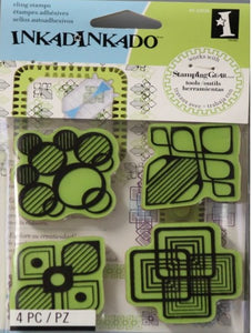 Inkadinkado Modern Shapes Cling Stamp Set - SCRAPBOOKFARE