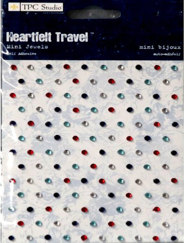 TPC Studio Heartfelt Travel Mini Self-Adhesive Jewels Embellishments