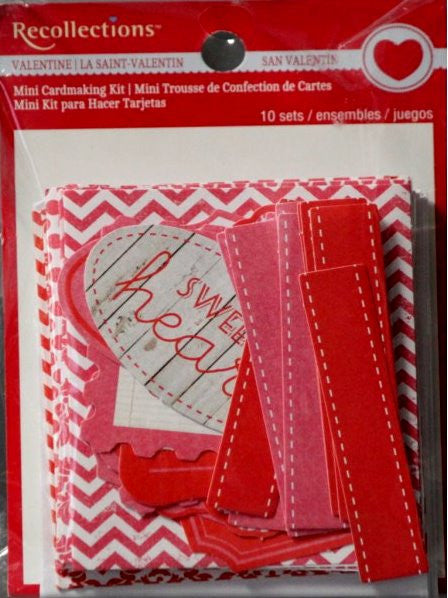 Recollections Mini Valentine Cardmaking Kit - SCRAPBOOKFARE