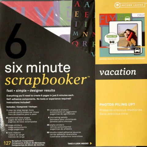 Autumn Leaves 12 x 12 Six Minute Scrapbooker Vacation Pages Kit - SCRAPBOOKFARE