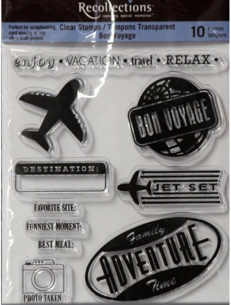Recollections Bon Voyage Clear Stamps - SCRAPBOOKFARE