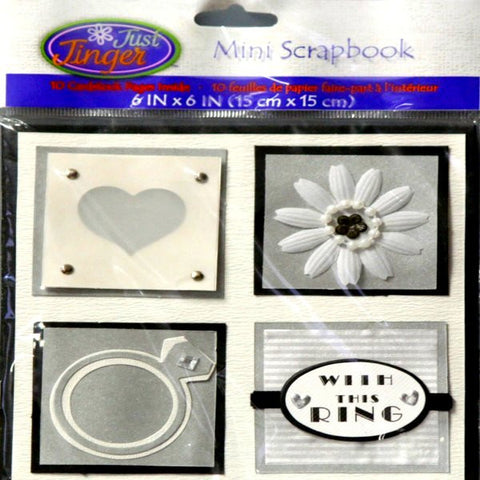 Wilton Just Jinger Mini Wedding Card Book Scrapbook Album