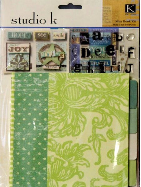 K & Company Studio K Breeze Mini Scrapbook Kit - SCRAPBOOKFARE