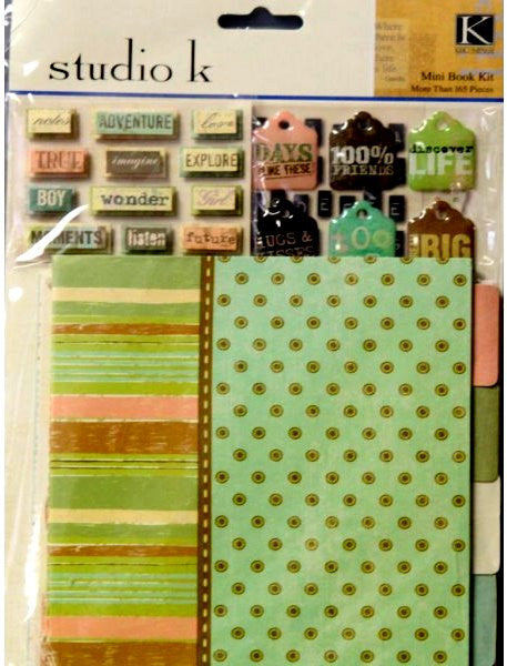 K & Company Studio K Meadow Mini Scrapbook Kit - SCRAPBOOKFARE