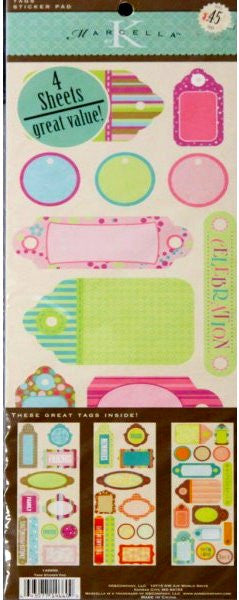 K & Company Marcella K Tags Sticker Pad Value Pack - SCRAPBOOKFARE