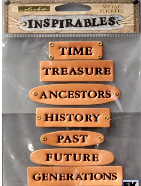 Sticko Inspirables Time Metal Stickers Embellishments
