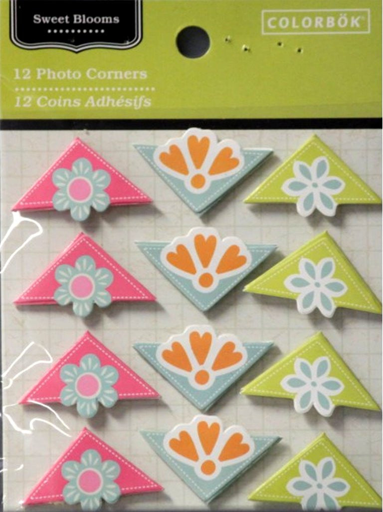 Colorbok Sweet Blooms Photo Corners - SCRAPBOOKFARE