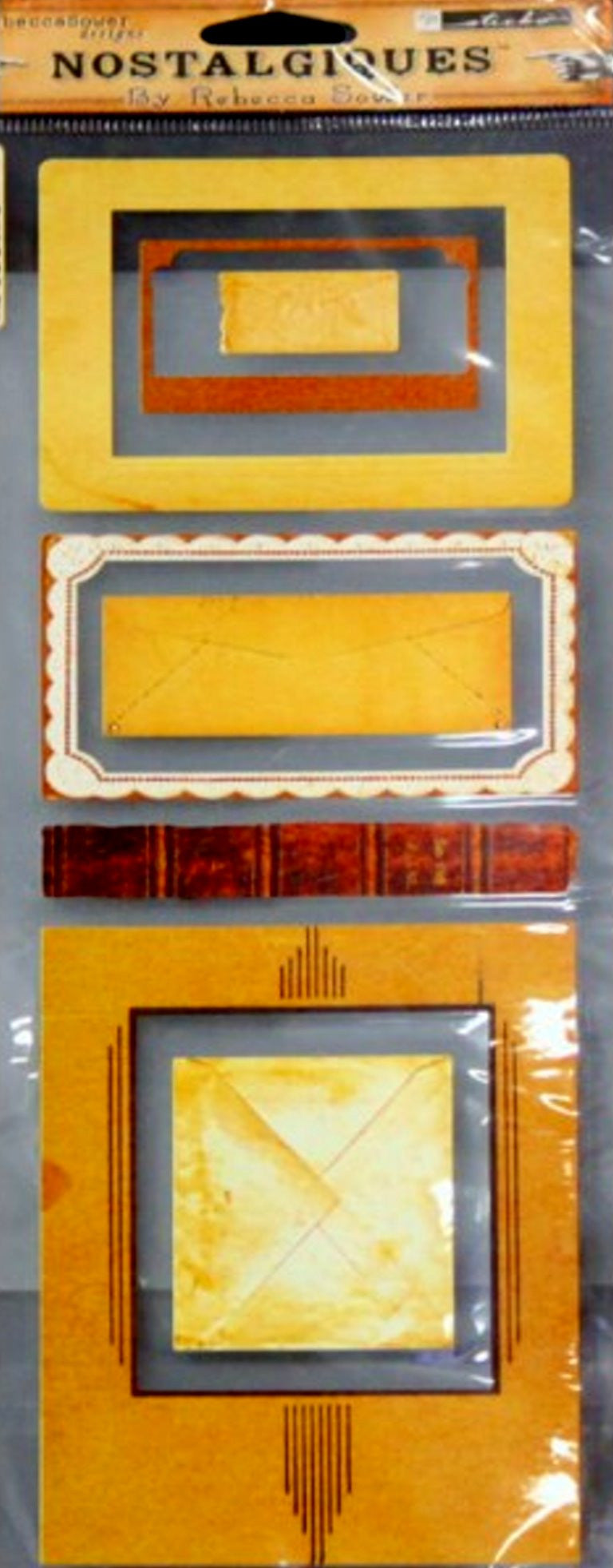 EK Success Rebecca Sowers Nostalgiques Sticko Vintage Frames Stickers - SCRAPBOOKFARE