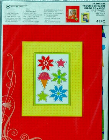 Autumn Leaves All Occasion Frame Kit - SCRAPBOOKFARE