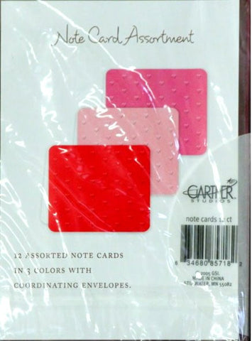 Gartner Studios Embossed Hot Red, Pink and Hot Pink Hues Note Card Collection - SCRAPBOOKFARE