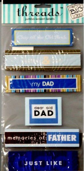 Me & My Big Ideas Threads Father & Son Jumbo Woven Labels
