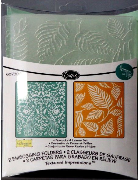 Sizzix Peacocks & Leaves Embossing Folders
