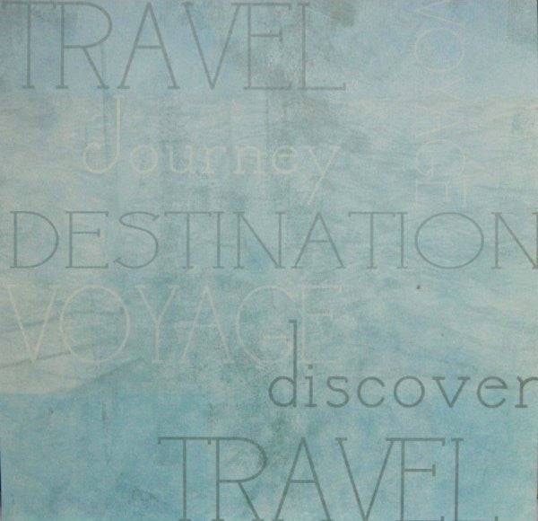 Scrapbook Paper 12 x 12  Vacation, Travel & Destination Theme Scrapbook Paper - SCRAPBOOKFARE