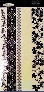 Colorbok Nocturne Clear Border Stickers Embellishments - SCRAPBOOKFARE