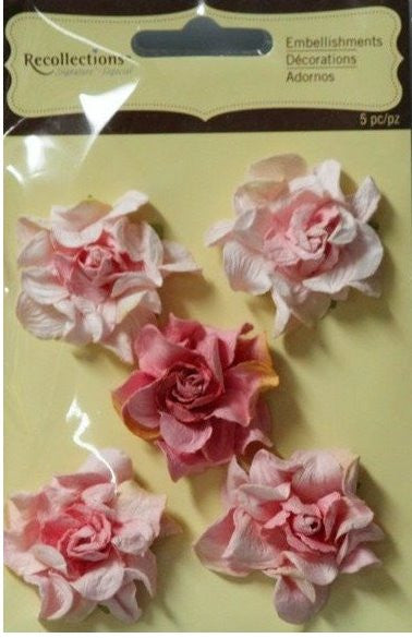 Recollections Signature Special Pink Paper Flowers Embellishments - SCRAPBOOKFARE