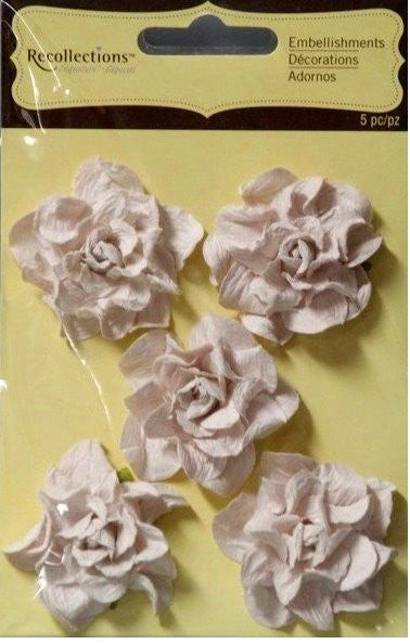 Recollections Signature Special Cream Paper Flowers Embellishments - SCRAPBOOKFARE