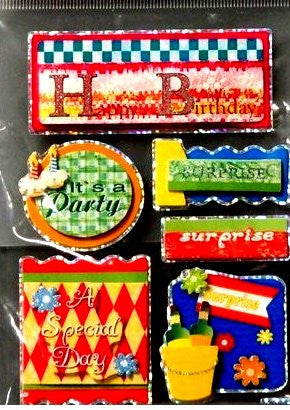 Miss Elizabeth's Birthday Dimensional Stickers Embellishments - SCRAPBOOKFARE