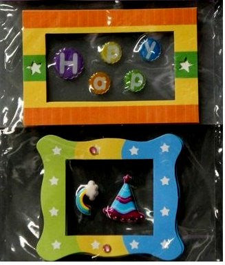 Miss Elizabeth's Happy Birthday Dimensional Stickers Embellishments - SCRAPBOOKFARE