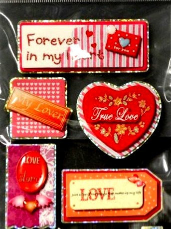 Miss Elizabeth's Wedding And Love Dimensional Stickers Embellishments - SCRAPBOOKFARE