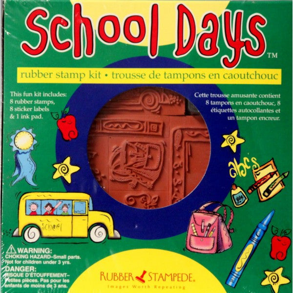 Rubber Stampede School Days Rubber Stamp Kit - SCRAPBOOKFARE